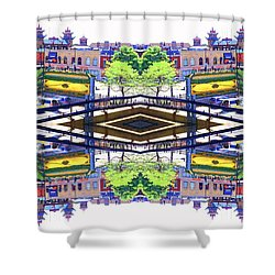 Chinatown Chicago 3 Shower Curtain by Marianne Dow