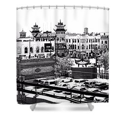 Shower Curtain featuring the photograph Chinatown Chicago 4 by Marianne Dow