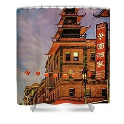 Chinatown San Francisco Shower Curtain