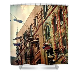 Chinatown Shoe Fling Shower Curtain