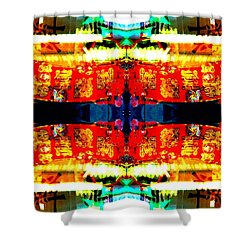 Shower Curtain featuring the photograph Chinatown Window Reflection 5 by Marianne Dow