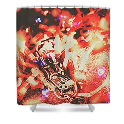 Chinese Dragon Celebration Shower Curtain