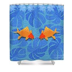Chinese Fish Shower Curtain