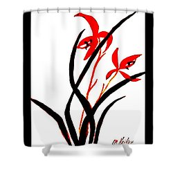 Chinese Flowers Shower Curtain