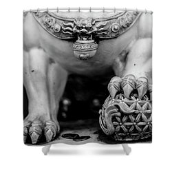 Chinese Guardian Lions Shishi Shower Curtain