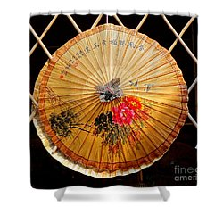 Shower Curtain featuring the photograph Chinese Hand-painted Oil-paper Umbrella by Yali Shi