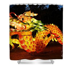 Shower Curtain featuring the photograph Chinese Lantern In The Shape Of A Dragon by Yali Shi