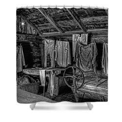 Chinese Laundry In Montana Territory Shower Curtain by Daniel Hagerman