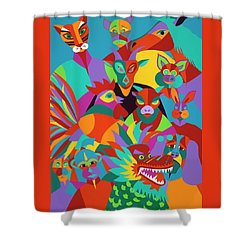 Chinese New Year Shower Curtain