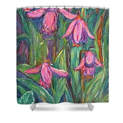 Shower Curtain featuring the painting Chinese Orchids by Kendall Kessler