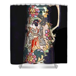 Chinese Pitcher -  More Than 100 Years Old Shower Curtain by Merton Allen