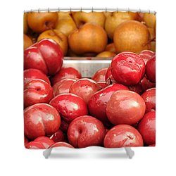 Chinese Plums And Pears Pickled In Sugar Shower Curtain by Yali Shi