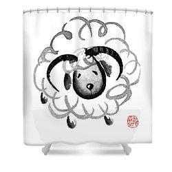 Chinese Zodiac For Year Of The Goat Shower Curtain