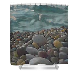 Chios Pebbles Shower Curtain