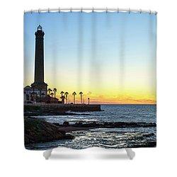 Chipiona Lighthouse Cadiz Spain Shower Curtain by Pablo Avanzini