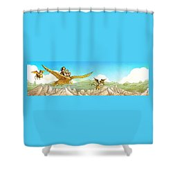 Chiricahua Mountains Panorama Shower Curtain