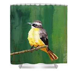 Chirping Charlie Shower Curtain