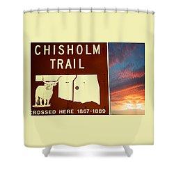 Chisholm Trail Oklahoma Shower Curtain