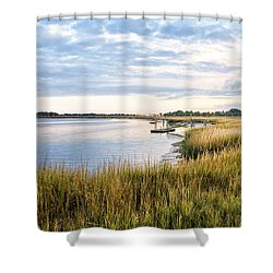 Chisolm Island Shoreline  Shower Curtain