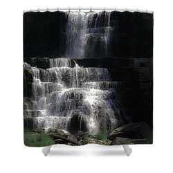 Chittenango Falls Shower Curtain by DigiArt Diaries by Vicky B Fuller