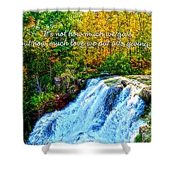 Shower Curtain featuring the photograph Chittenango Falls, Ny Mother Teresa  by Diane E Berry