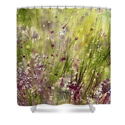 Chive Garden Shower Curtain by Judith Levins