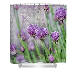 Chives In Texture Shower Curtain