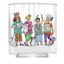 Chix Shower Curtain by Rosemary Aubut