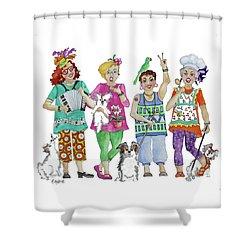 Chix Shower Curtain
