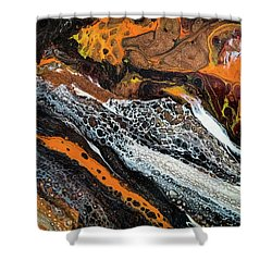 Chobezzo Abstract Series 1 Shower Curtain by Lilia D