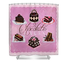 Chocolate Cakes Shower Curtain
