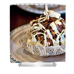 Chocolate Caramel Apple Shower Curtain