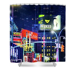 Chocolate Covered Broadway Shower Curtain
