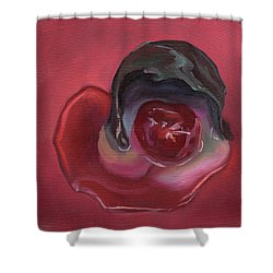 Chocolate Covered Cherry Shower Curtain