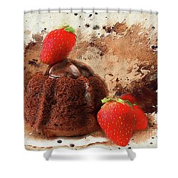 Shower Curtain featuring the photograph Chocolate Explosion by Darren Fisher