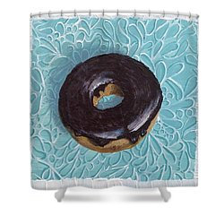 Chocolate Glazed Shower Curtain