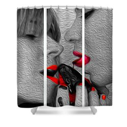 Chocolate Kiss-tryptych Shower Curtain