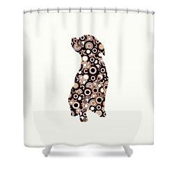 Chocolate Lab - Animal Art Shower Curtain by Anastasiya Malakhova