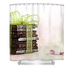Chocolate Shower Curtain by Nailia Schwarz