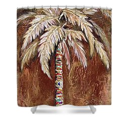 Chocolate Palm Shower Curtain