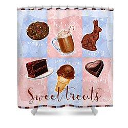 Chocolate Sweet Treats Shower Curtain