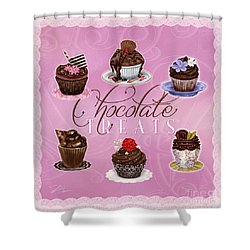 Chocolate Treats Shower Curtain