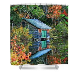 Chocorua Boathouse Shower Curtain