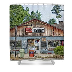 Choctaw Bluff Country Store Shower Curtain by Ericamaxine Price