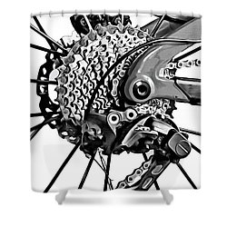 Shower Curtain featuring the digital art Choice Transport 2 Bw by Wendy J St Christopher