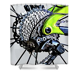 Shower Curtain featuring the digital art Choice Transport 2 by Wendy J St Christopher