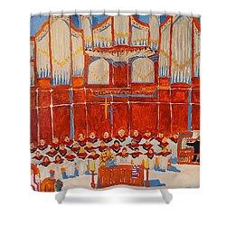 Choir And Organ Shower Curtain by Rodger Ellingson