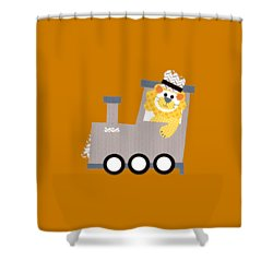 Choo Choo T-shirt Shower Curtain