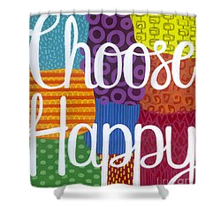 Shower Curtain featuring the painting Choose Happy by Carla Bank