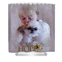 Shower Curtain featuring the digital art Choose Hope by Kathy Tarochione